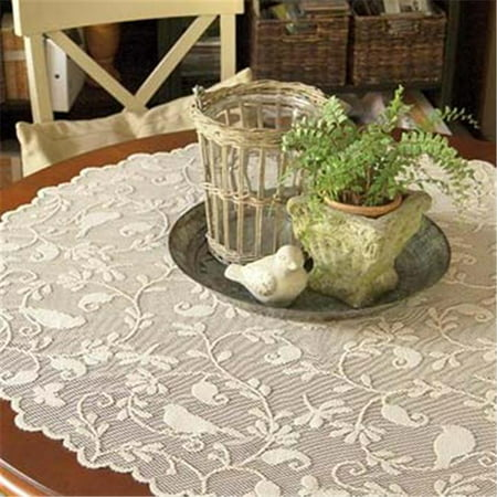 Heritage Lace BG-4500C 45 in. Bristol Garden Round Table Topper - Table Topper