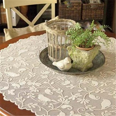 Heritage Lace BG-4500C 45 in. Bristol Garden Round Table Topper