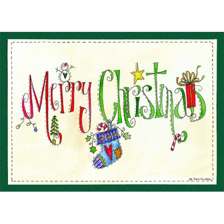 LPG Greetings Merry Christmas Hanging Stocking: Pat Yuille Christmas (Card Symbols Stockings)