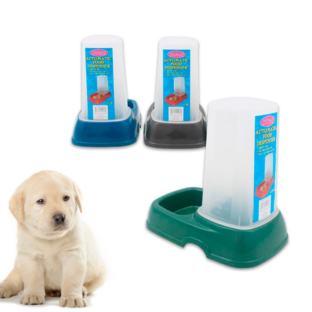 Pet Automatic Food Water Dispenser 1.5 Ltr Feeder Dog Cat Animals Auto Bowl Dish