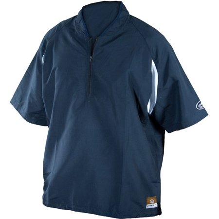 Louisville Slugger Adult Slugger Batting Cage Pullover with 1/4 Zip, Navy