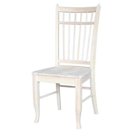 International Concepts White Wood  Birdcage Chair, White & Off-White