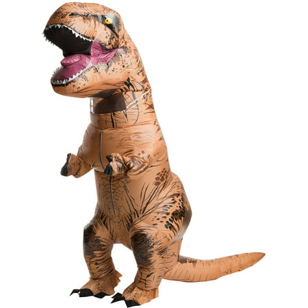 Jurassic World: Adult Inflatable T-Rex Costume - - Flintstone Costumes For Adults