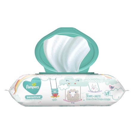 Pampers Baby Wipes Sensitive 1X Pop-Top 56 Count