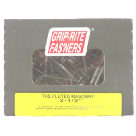 Grip-Rite 2-1/2 in. THS Fluted Shank Masonry Nail (1 lb. box)