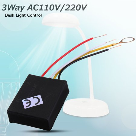 3 Way 110/220V Table Desk Light Lamp Touch Switch Control Sensor Dimmer Repair for Bulbs ()