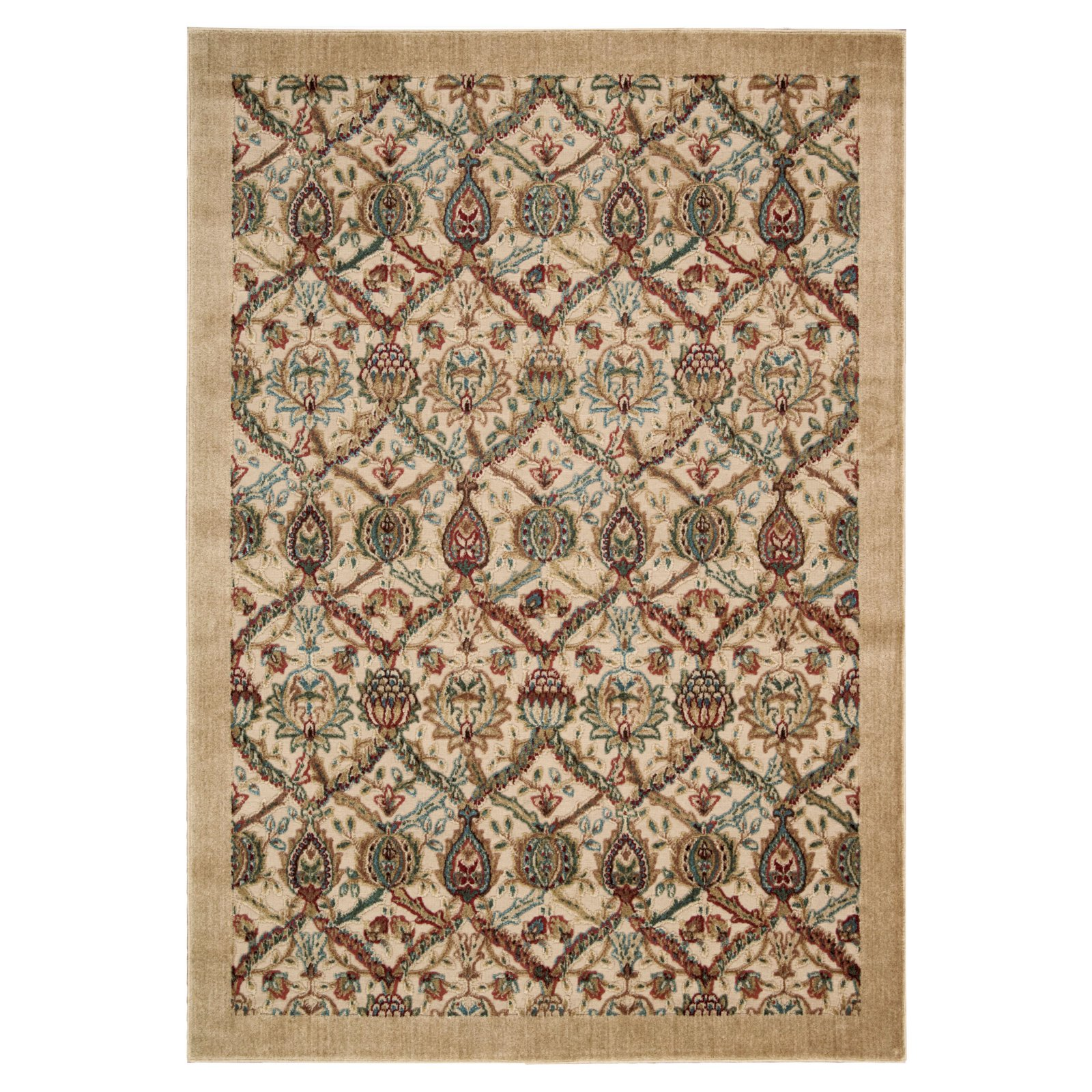 Nourison Graphic Illusions Bold Textured Damask Area Rug
