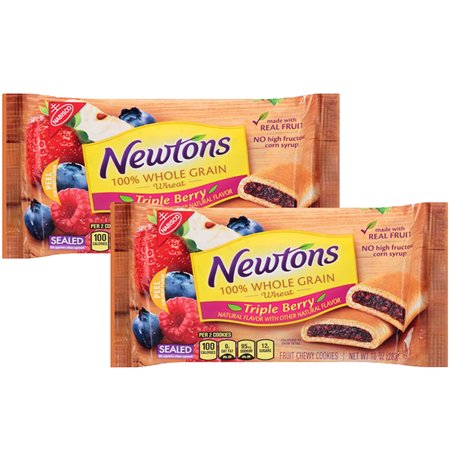(2 Pack) Nabisco 100% Whole Grain Wheat Triple Berry Newtons, 10 oz