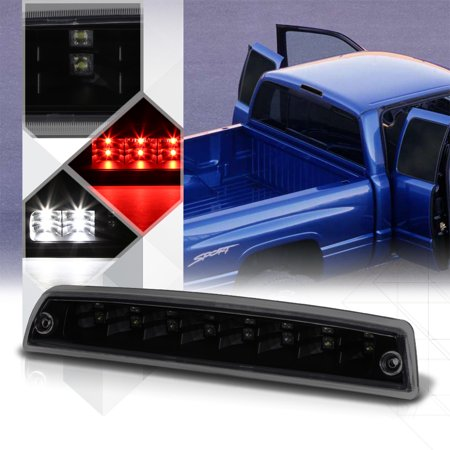 01 Awd Brake - Black Smoke LED Third [3rd] Brake Light Cargo for 94-02 Dodge Ram 1500/2500/3500 95 96 97 98 99 00 01