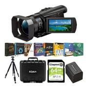 Sony FDR-AX100 4K UHD Handycam Camcorder Content Creator Bundle