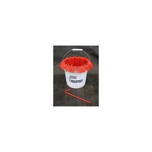 Monk Industries 31210BORBCKT Bucket of Stakes (Orange)