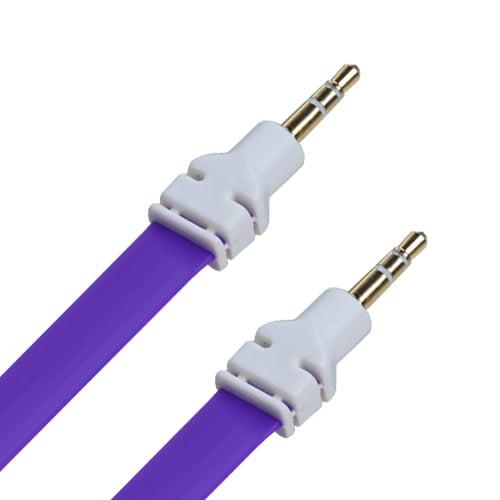 3 ft Noodle Audio Cable Connector 3.5 Plug for Compatible Mobile Phones Devices
