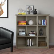 """WyndenHall  Stratford Solid Wood 45 inch x 43 inch Contemporary 9 Cube Bookcase and Storage Unit - 43.2""""w x 15""""d x 44.6"""" h"""