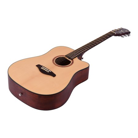 41inch Cutaway Acoustic Folk Guitar Spruce Wood Top Panel Mahogany Wood Backside Panel with Strap Bag Capo Picks Strings - image 7 of 7