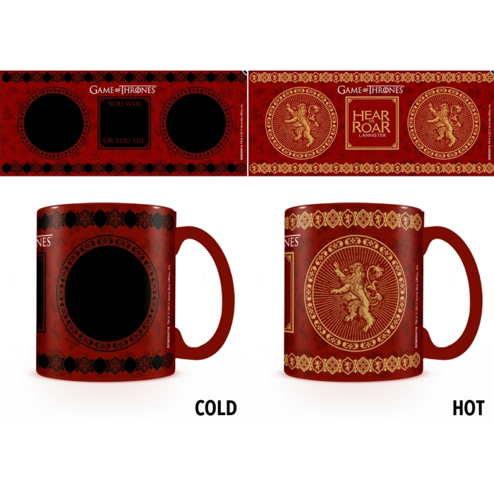 Game Of Thrones - Thermal Heat Change Ceramic Coffee Mug / Cup (House Lannister)