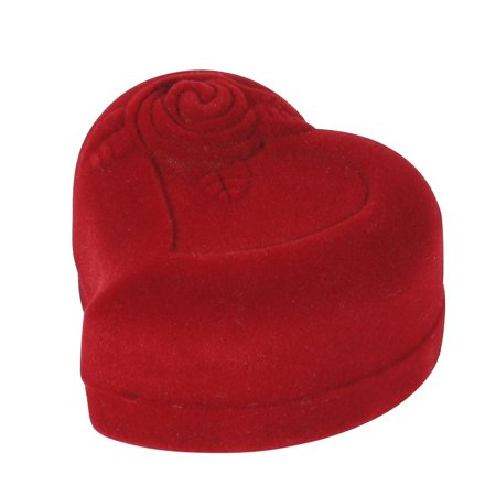 Ring Boy Gifts (Heart-Shaped Red Rose Jewelry Gift Box Case for Ring)