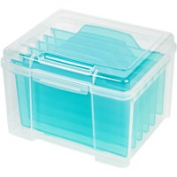 IRIS Greeting Card and Craft Storage Keeper, Blue
