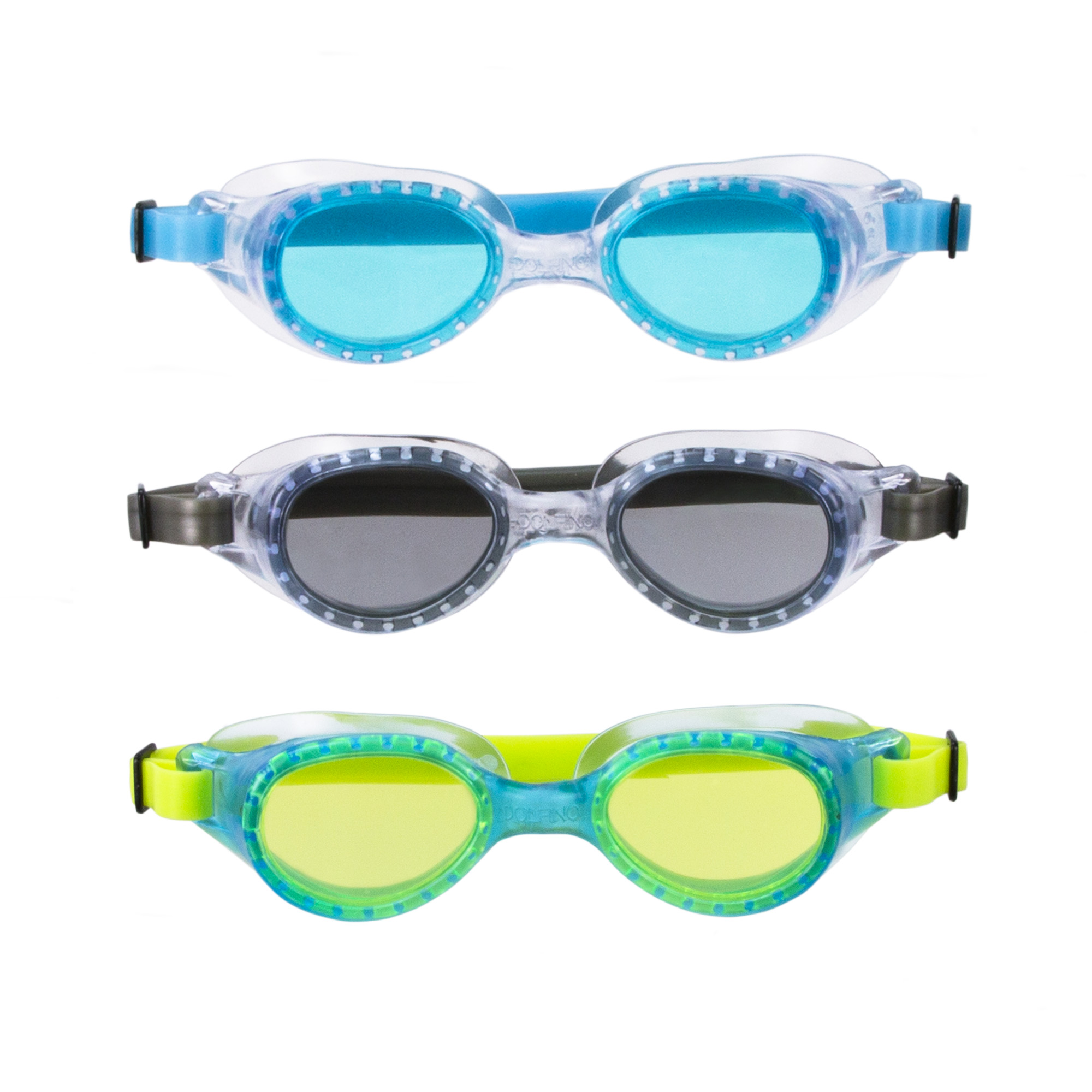 Youth 3 Pack Goggle - Green, Smoke, Turquise