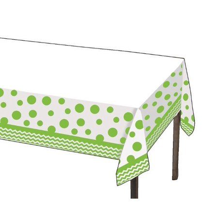 Party Creations Chevron & Polka Dots Plastic Tablecover, 54