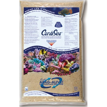 CaribSea Arag-Alive Special Grade Reef Sand, 20-Pound, Functional and beautiful aragonite substrate for all types of marine aquariums By Carib Sea ()