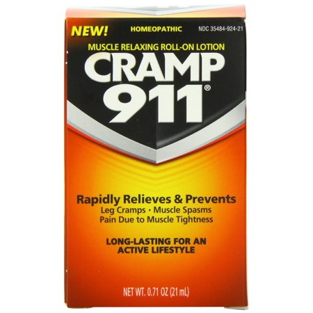 Cramp 911 Muscle Relaxing Roll On Lotion  Net Wt  0 71 Oz  Pack Of 5   New