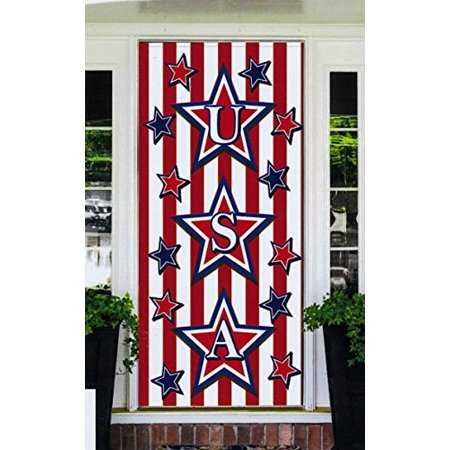 Fourth Of July Banner (Regent 4th of July Celebration Patriotic Door Cover Banner 30 x 60 Inch)