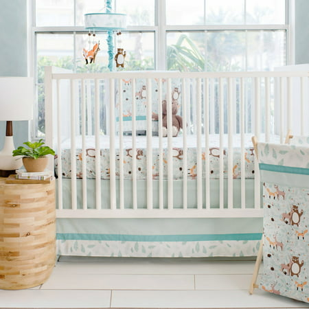Forest Friends 3 Piece Crib Bedding Set by My Baby (Baby Cribs Set)