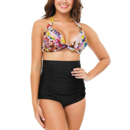 bb8c1d21ac Senfloco L-4XL Plus Size Swimwear Bikini Set Swimsuits for Women, -2pcs  Padded