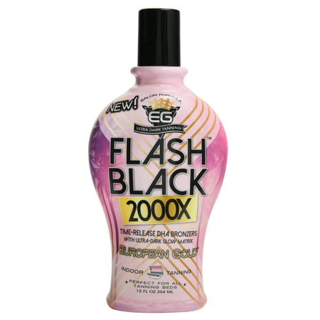 EG Flash Black 200X Ultra Dark Tanning Formula (Best Tanning Bed To Get Dark Fast)