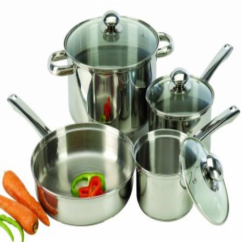 7-Piece Stainless Steel Cookware Set with Encapsulated Base by