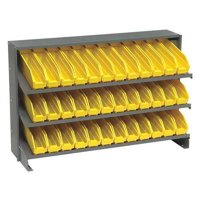 QUANTUM STORAGE SYSTEMS QPRHA-100YL Sloped Shelving System, 12 In. D, 36 In. W