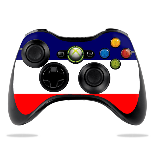 Protective Vinyl Skin Decal Cover for Microsoft Xbox 360 Controller wrap sticker skins France Flag