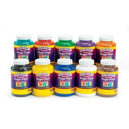 Colorations Washable Finger Paints, 16 oz. - Set of 10 (Item # CWFPS) - Halloween Finger Paint Ideas