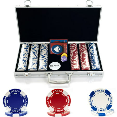 Trademark Poker 300 11.5g Holdem Poker Chip Set With Aluminum