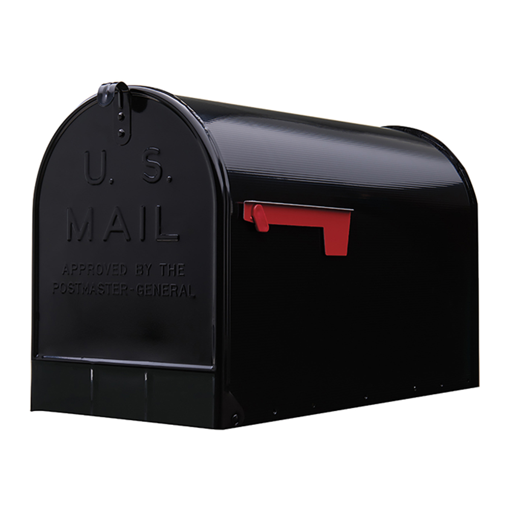 Gibraltar Mailboxes Stanley Extra-Large Capacity, Galvanized Steel, Black Post Mount... by Solar Group, Inc.