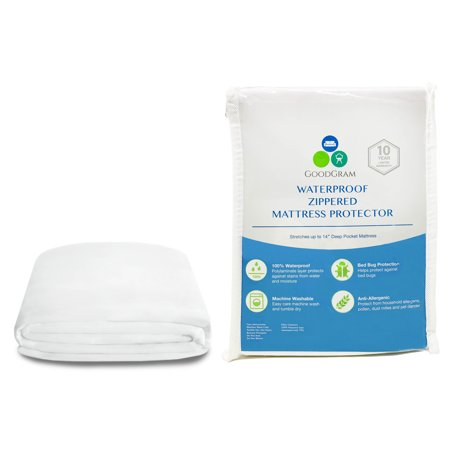 Pillow Mattress Cover - Original Bed Bug Blocker 100% Waterproof Anti Bed Bug, Anti Allergenic & Anti Microbial Fully Encased Deep Pocket Zippered Mattress Cover Protectors (Can Be Used On Pillow Top Mattresses) - Twin Size