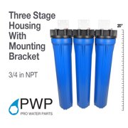 Water Filter Whole House 2.5inx20in Three Stage Filtration System 3/4in Inlet