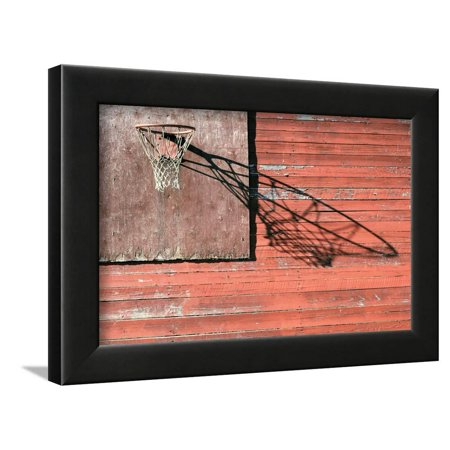 Rural Basketball Backboard and Hoop Outdoor Framed Print Wall Art By Ollikainen