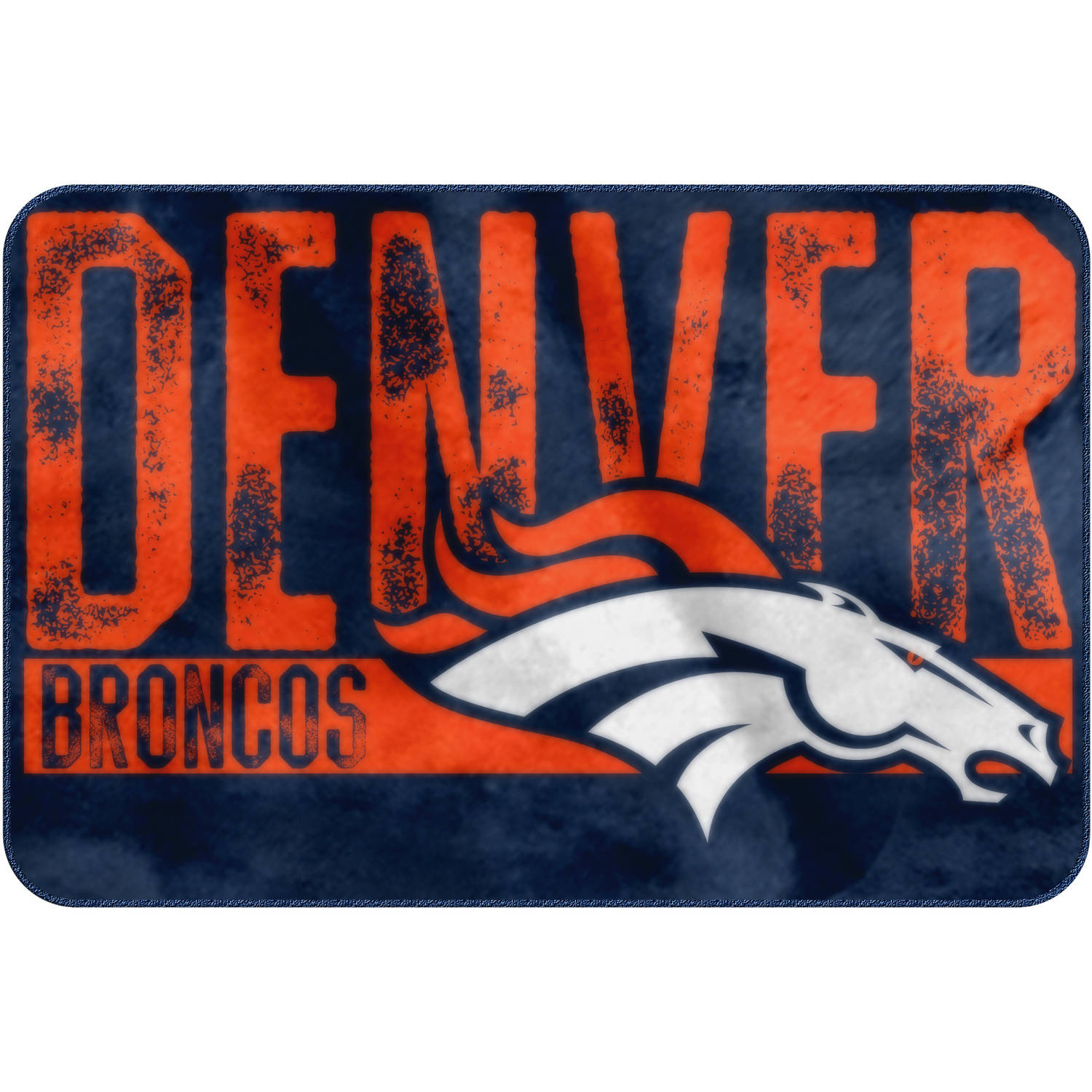 "NFL Denver Broncos ""Worn Out"" Mat, 20"" x 30"""