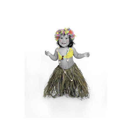 Little Girl Dressed as Hula Dancer Print Wall Art By Nora - Hula Dancer