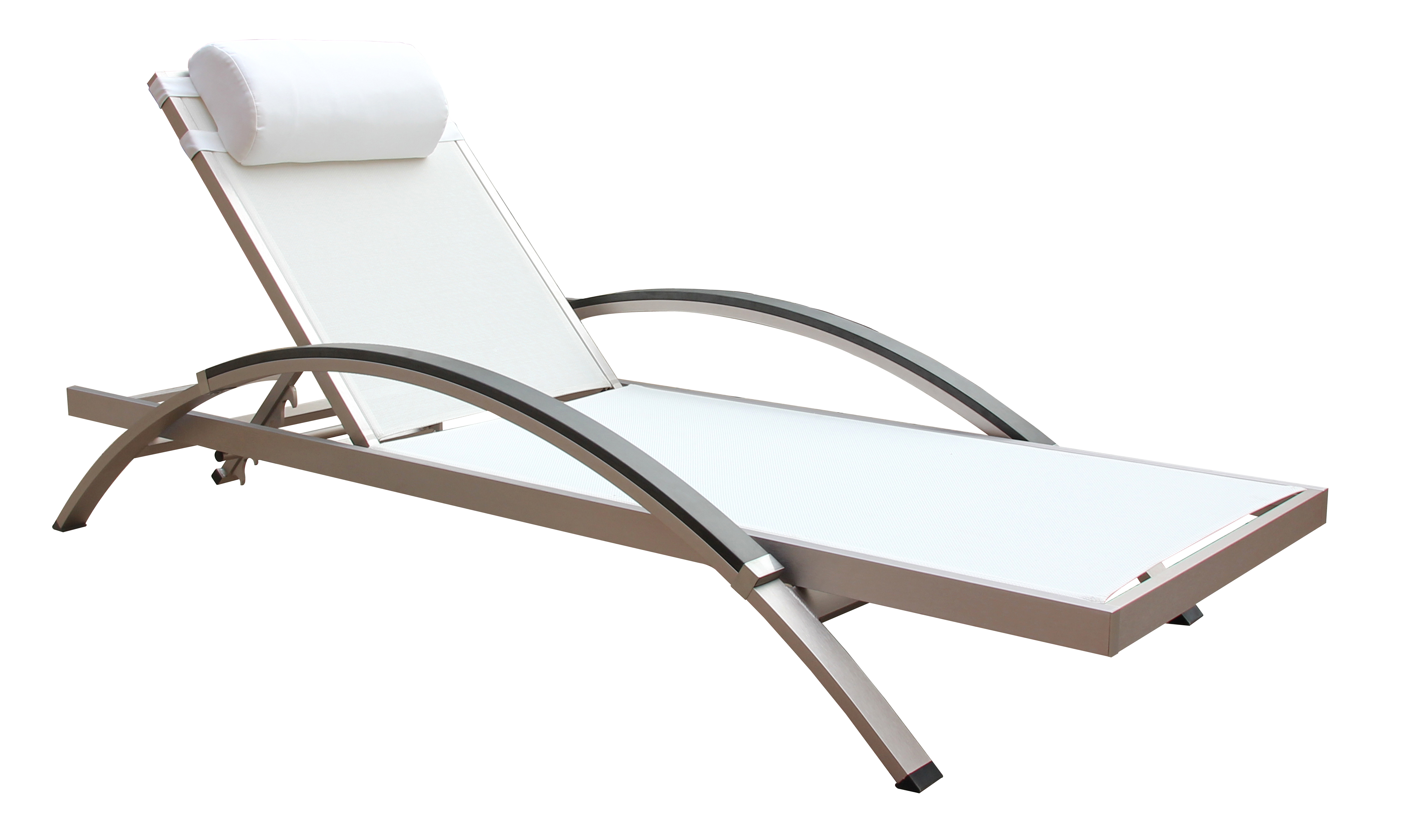 Boraam Fresca Outdoor Lounge Chair White Set of 2