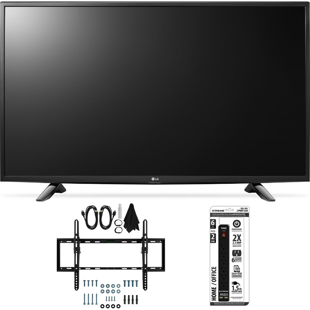LG 49LH5700 49-Inch Full HD Smart LED TV Flat + Tilt Wall Mount Bundle