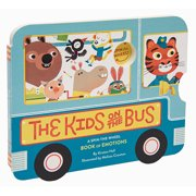 The Kids on the Bus : A Spin-the-Wheel Book of Emotions (School Bus book, Interactive Board Book for Toddlers, Wheels on the Bus)