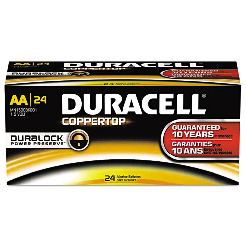Coppertop Alkaline Batteries With Duralock Power Preserve Technology,