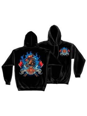 First In Last Out Firefighter Sweatshirt by , Black, L