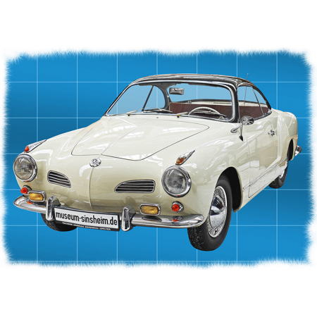 Canvas Print Volkswagen Elegant Coupe Cult Karmann Ghia Stretched Canvas 10 x 14