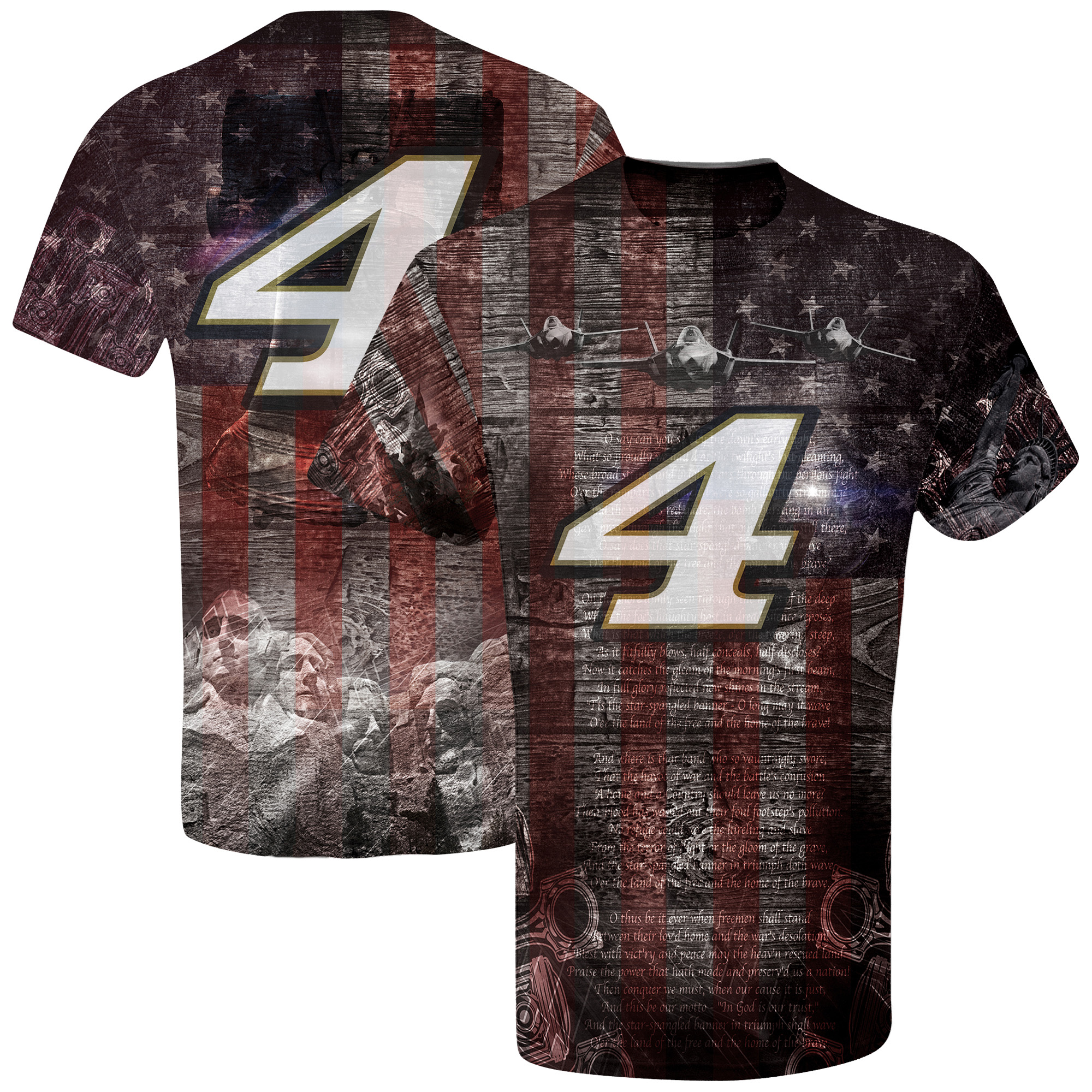 Kevin Harvick American Sublimated T-Shirt - Red/Navy