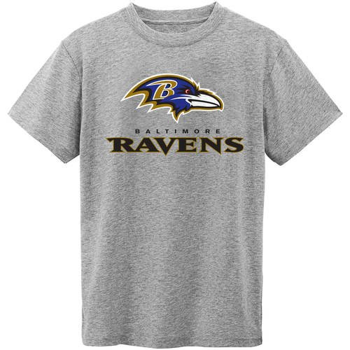 NFL Baltimore Ravens Short Sleeve Grey Tee