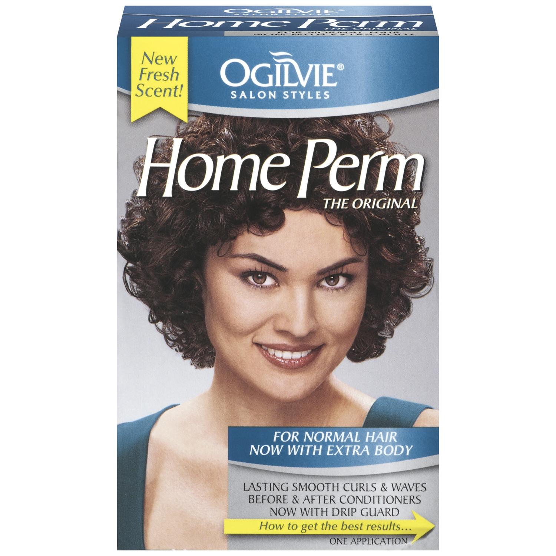 Self straight perm kit - Ogilvie Salon Styles The Original For Normal Hair W Extra Body Home Perm 1 Ct Box Walmart Com