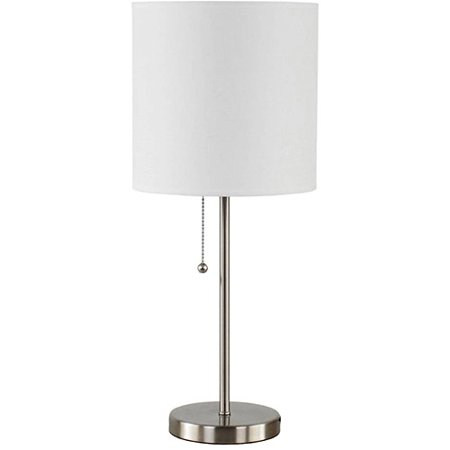 Mainstays stick desk lamp brushed nickel walmartcom for Mainstays track tree floor lamp brushed nickel